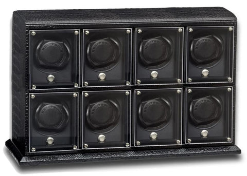 Underwood (London) - 8-Unit EVO Watch Winder in Black Croco