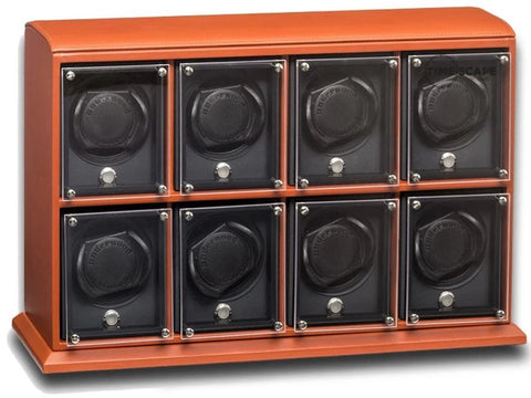 Underwood (London) - 8-Unit EVO Watch Winder in Tan Leather