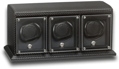 Underwood - 3-Unit EVO Watch Winder in Carbon Fiber
