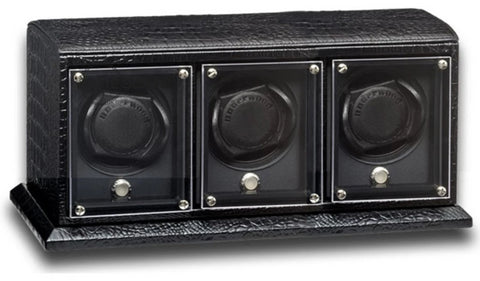 Underwood (London) - 3-Unit EVO Watch Winder in Black Croco