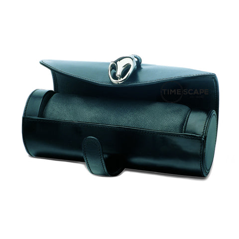 Underwood (London) - Medium Watch Storage Roll in Black Leather