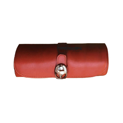 Underwood (London) - Medium Watch Storage Roll in Tan Leather