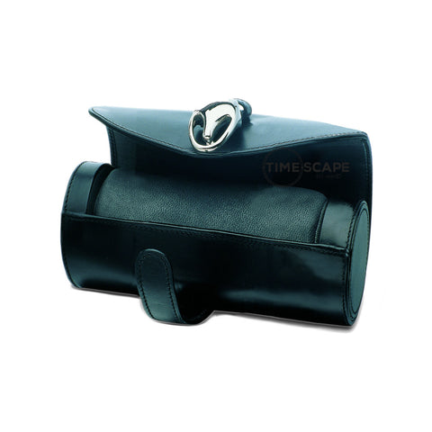 Underwood (London) - Small Watch Storage Roll in Black Leather