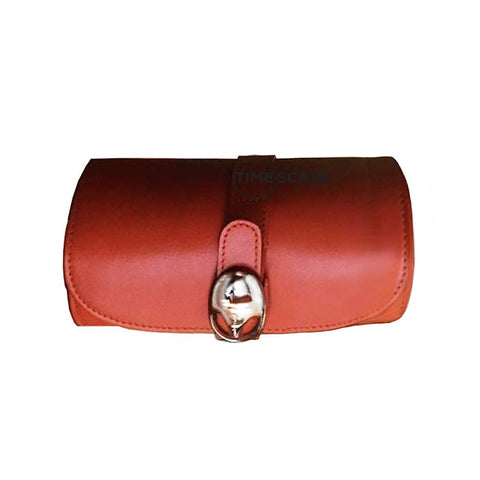 Underwood (London) - Small Watch Storage Roll in Tan Leather