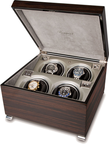 Rapport Vogue Watch Winder Quad in Macassar W344