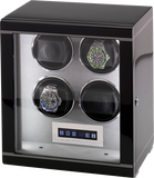 Rapport Formula Watch Winder Quad in Ebony W554