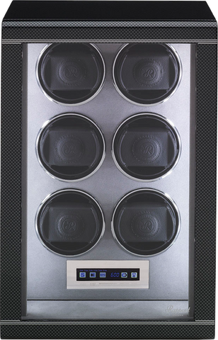 Rapport Formula 6-Unit Watch Winder in Carbon W566