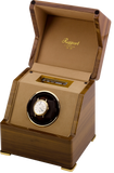Rapport Perpetua Touch Screen Watch Winder Single in Satin Walnut W581
