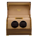 Rapport Perpetua Touch Screen Watch Winder Duo in Satin Walnut W582
