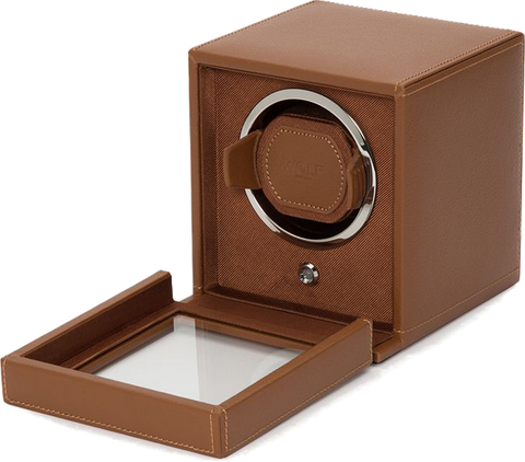 Wolf - Cub Single Watch Winder w Cover | 461127
