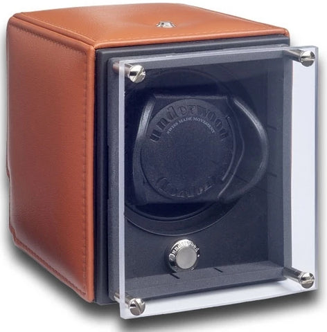 Underwood - Single EVO Watch Winder in Tan Leather