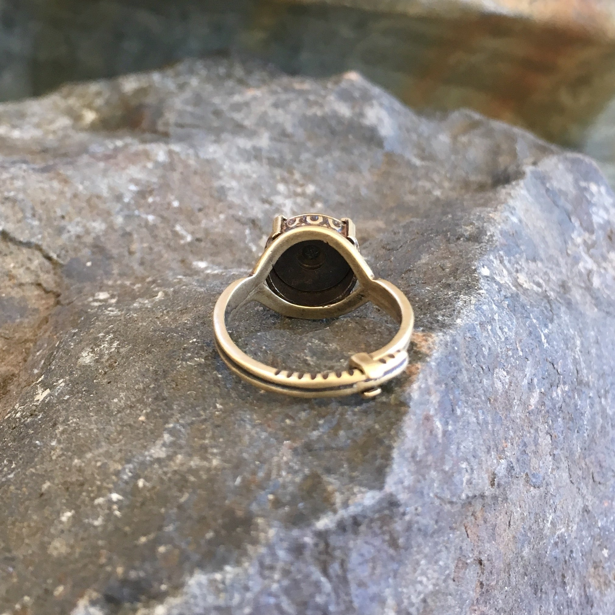 Bullet Casing Crown Ring - Silver or Bronze