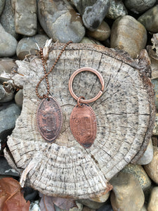 Lucky Penny Initial Necklace or Keychain