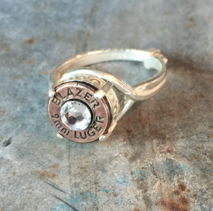 Bullet Casing Crown Ring