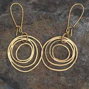 Circle Earrings - gold or silver