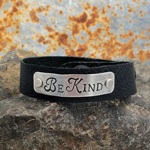 Be Kind Inspirational Leather Bracelet