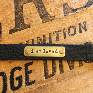 """I Am"" Leather Bracelet"