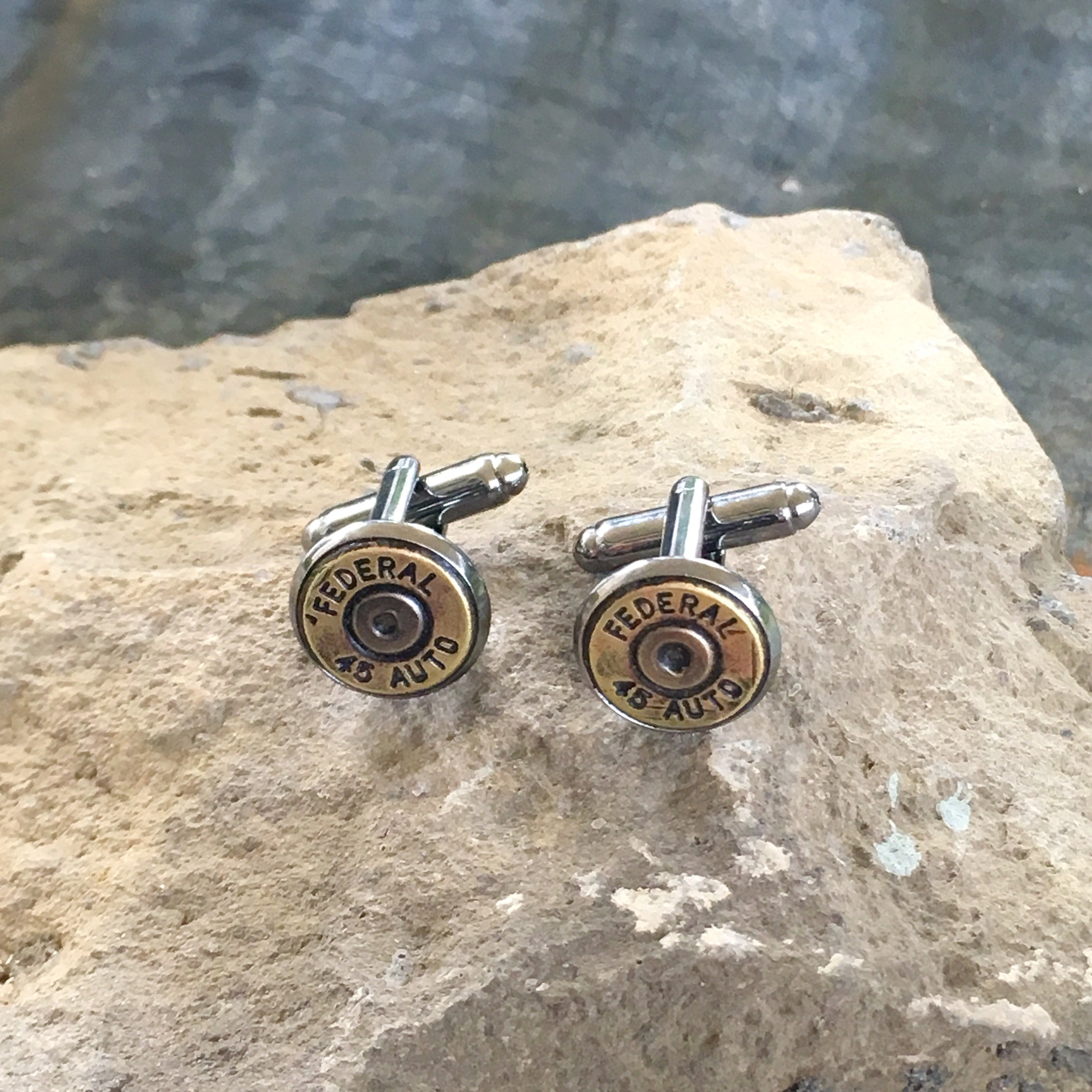 Recycled Law Enforcement Bullet Cuff Links