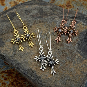 Swarovski Cross Earrings