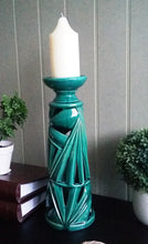 Load image into Gallery viewer, Large 40cm Palm Leaf Ceramic Candle Stick - magnoliavintage
