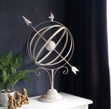Load image into Gallery viewer, Large Cream Armillary Sphere - magnoliavintage
