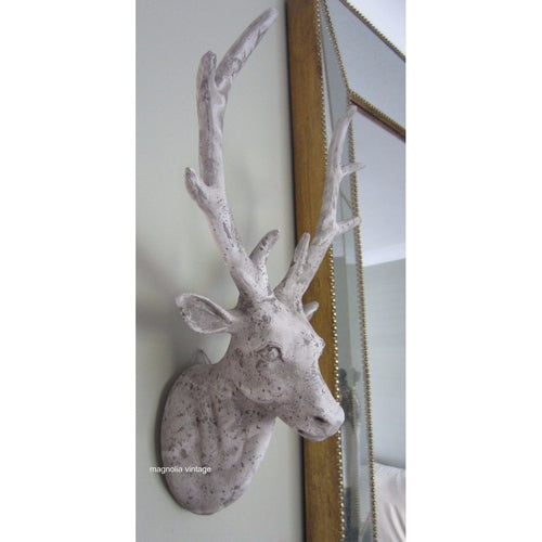 Stone effect Stag Head Wall Art decorative Wall Hanging - magnoliavintage