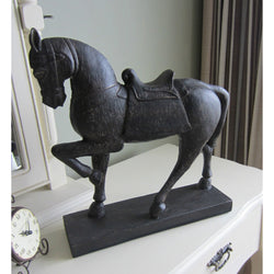 Antique style Warrior Horse Statue ornament Large Impressive Detail Country Chic - magnoliavintage