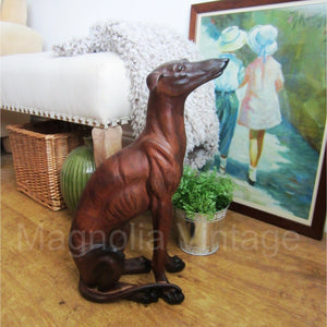 Whippet Greyhound Racing Dog Statue Ornament - magnoliavintage