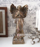 Ornate Golden Angel Statue H42cm Religious Memorial Figurine antique style NEW - magnoliavintage