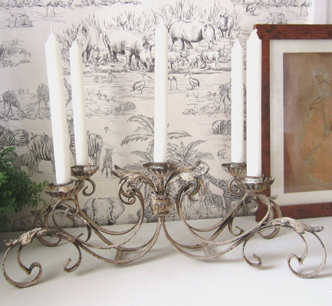 Vintage Chic 5 Arm Cream Candelabra Table centrepiece - magnoliavintage