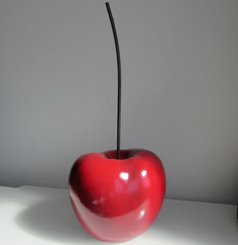 Pair Huge Gloss Cherry Home Ornament h55cm - magnoliavintage