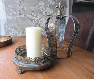 Large Crown Candle Holder - magnoliavintage
