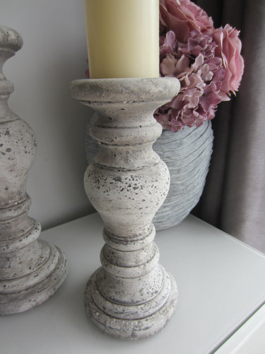 Stone look Candle Holder, Candle Pillar - magnoliavintage