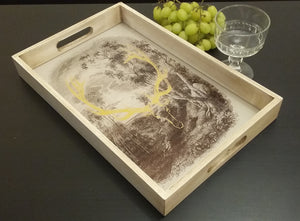Highland Stag Glass Serving Tray - magnoliavintage