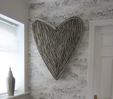 Load image into Gallery viewer, Huge Wicker Heart Wall Art - magnoliavintage