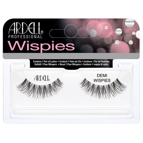 ARDELL InvisiBands Lashes, Demi Wispies Black - HAIRGLO