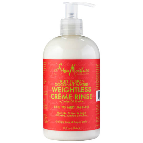SHEA MOISTURE Fruit Fusion Coconut Water Weightless Creme Rinse 13oz