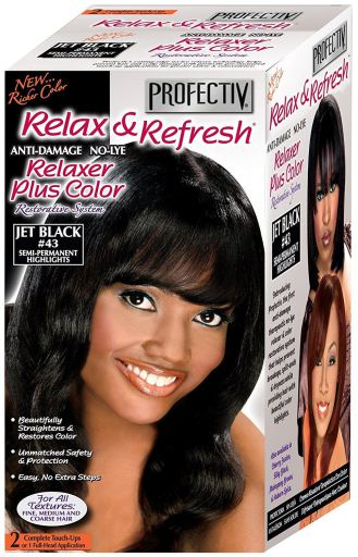 MEGA GROWTH Profectiv Relaxer Plus Colour Jet Black