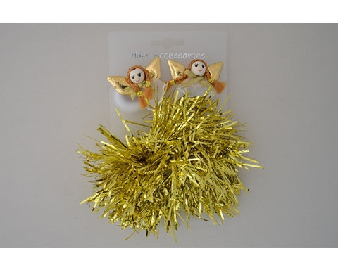 Christmas Ponio Gold Tinsel Scrunchie