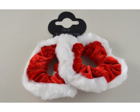 Christmas Scrunchie White & Red