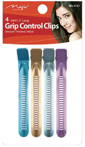 4 Pack Grip Control Clips (Colours) - HAIRGLO