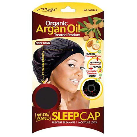 MAGIC COLLECTION Organic Argan Oil Wide Band Sleep Cap