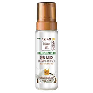 CREME OF NATURE Coconut Milk Curl Quench Foaming Mousse 7 oz