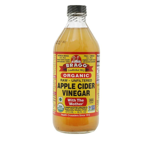 BRAGG Organic Apple Cider Vinegar with The Mother 16oz - HAIRGLO