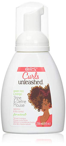 ORS CURLS UNLEASHED Green Tea & Mango Shine and Define Mousse 8oz