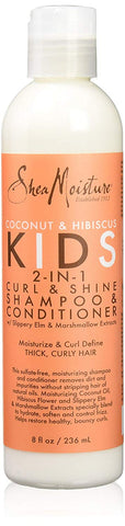 SHEA MOISTURE Coconut & Hibiscus Kids 2 in 1 Shampoo and Conditioner + Detangler