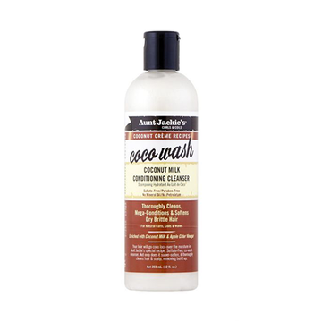 AUNT JACKIE'S Coconut Milk Conditioning Cleanser 12oz - HAIRGLO