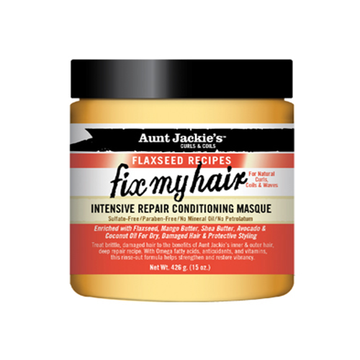 AUNT JACKIE'S Fix My Hair Intensive Repair Conditioning Masque 15oz - HAIRGLO