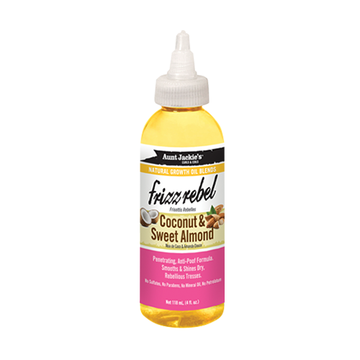AUNT JACKIE'S Frizz Rebel Coconut & Sweet Almond Oil 4oz - HAIRGLO