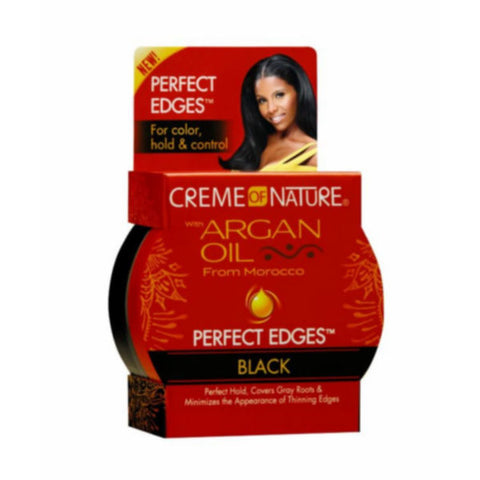 CREME OF NATURE Argan Oil Edge Control Black 2.2oz - HAIRGLO
